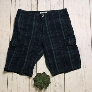 Calvin Klein Blue Plaid Cargo Shorts - Size 30